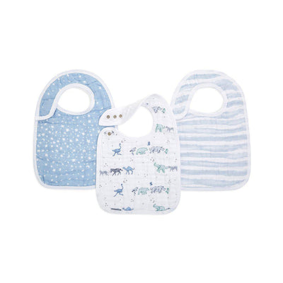 aden + anais Snap Bibs - Rising Star - 3 Pack-Bibs-Rising Star- Natural Baby Shower