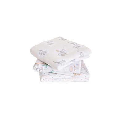 aden + anais Musy - My Darling Dumbo - 3 Pack-Muslin Squares-My Darling Dumbo- Natural Baby Shower