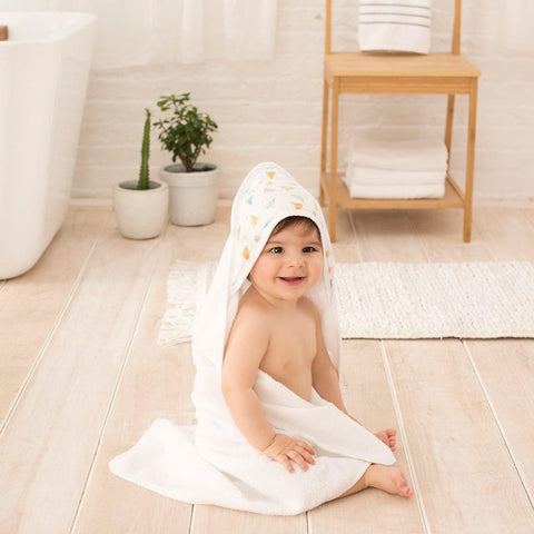 aden by aden + anais Hooded Baby Towel - Carnival-Towels & Robes-Carnival-One Size- Natural Baby Shower