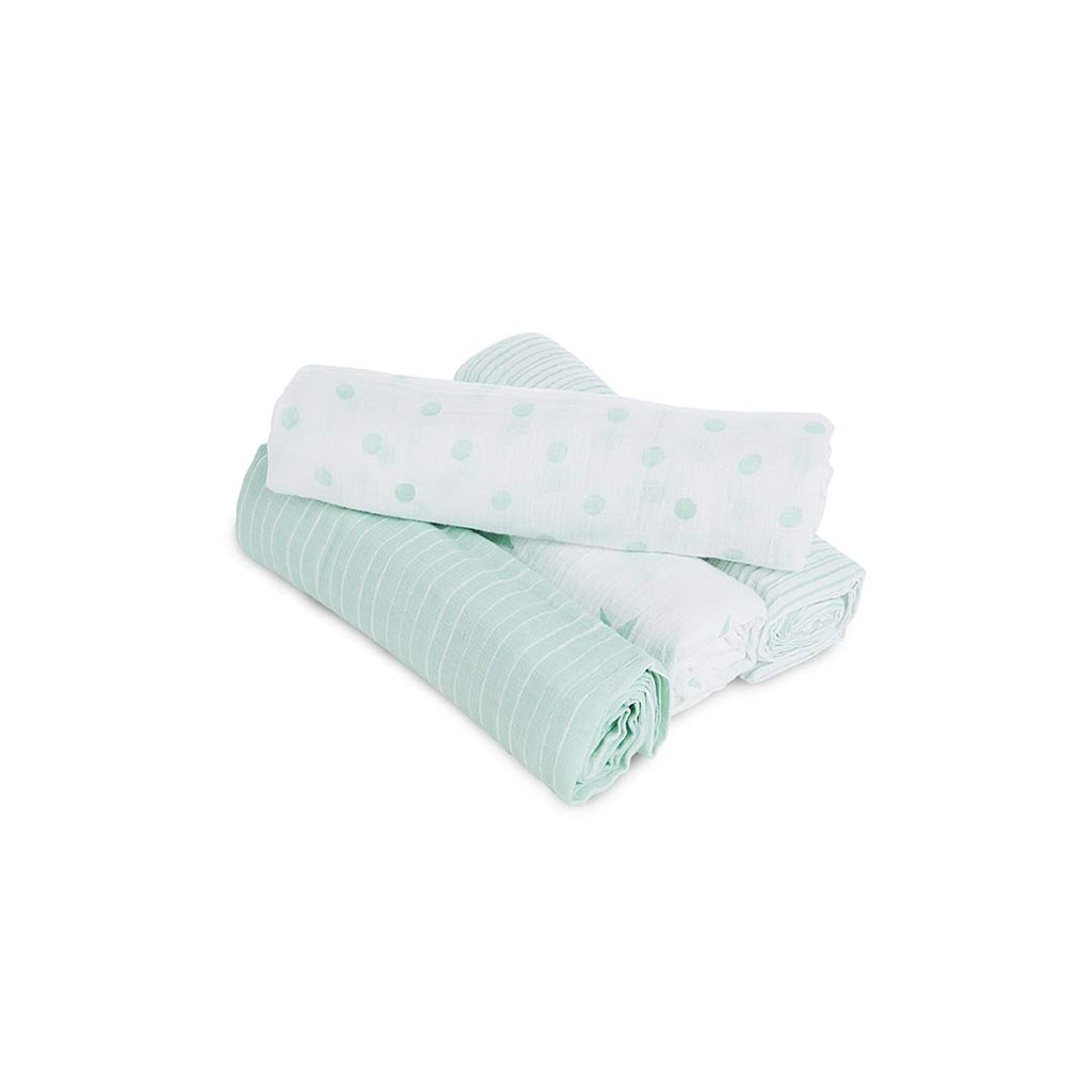 aden by aden + anais Swaddle Blankets - Dream - 4 Pack-Swaddling Wraps- Natural Baby Shower