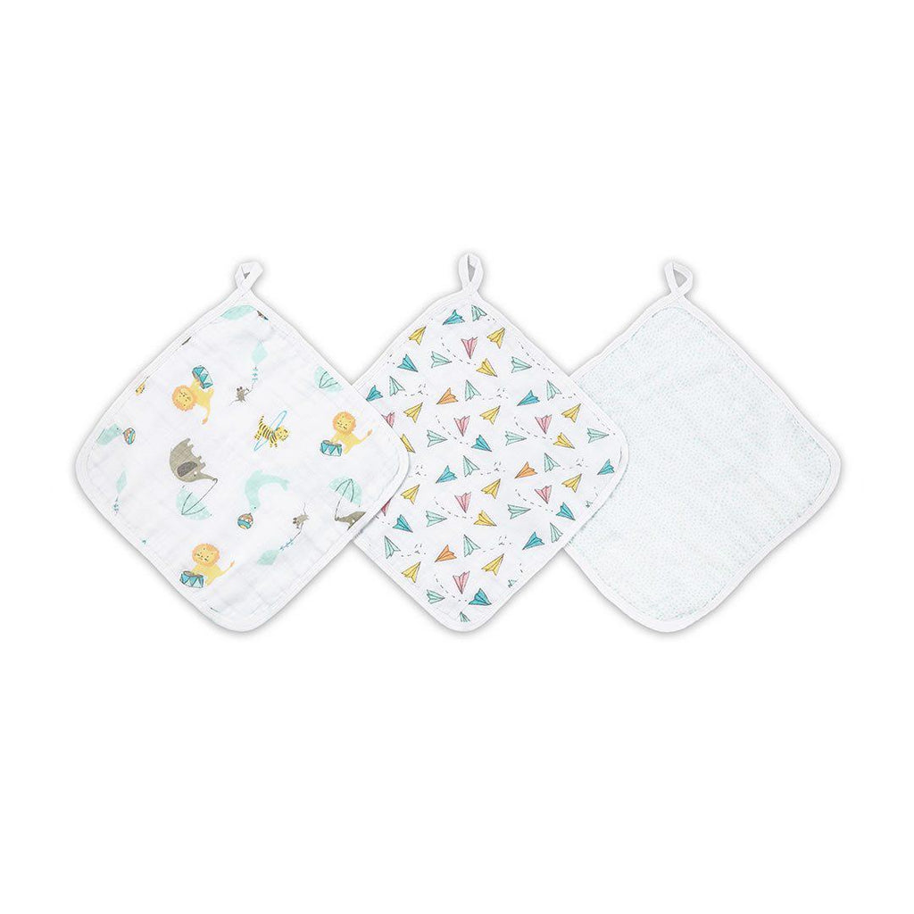 aden by aden + anais Washcloths - Carnival - 3 Pack-Washcloths- Natural Baby Shower