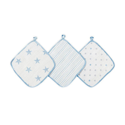 aden + anais Essentials Washcloths - Dapper - 3 Pack-Washcloths- Natural Baby Shower