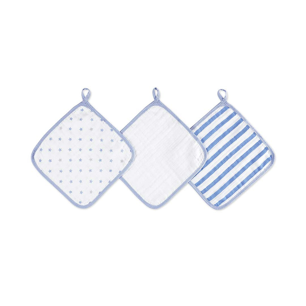 aden by aden + anais Washcloths - Dashing - 3 Pack-Washcloths- Natural Baby Shower