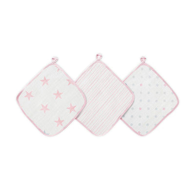 aden + anais Essentials Washcloths - Doll - 3 Pack-Washcloths- Natural Baby Shower