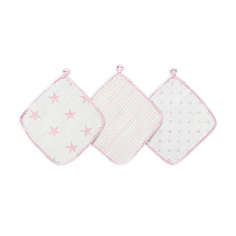 aden by aden + anais Washcloths - Doll - 3 Pack-Washcloths- Natural Baby Shower