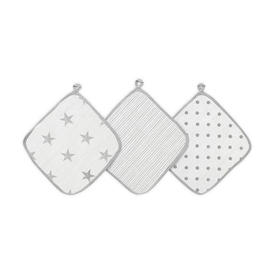 aden + anais Essentials Washcloths - Dusty - 3 Pack-Washcloths- Natural Baby Shower