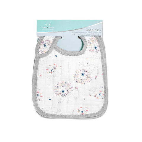 aden + anais Classic Snap Bibs - Leader Of The Pack - 3 Pack-Bibs-Leader Of The Pack- Natural Baby Shower