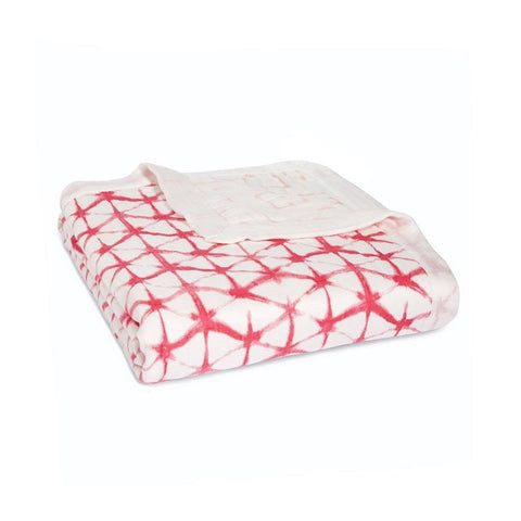 aden + anais - Silky Soft Dream Blanket - Berry Shibori