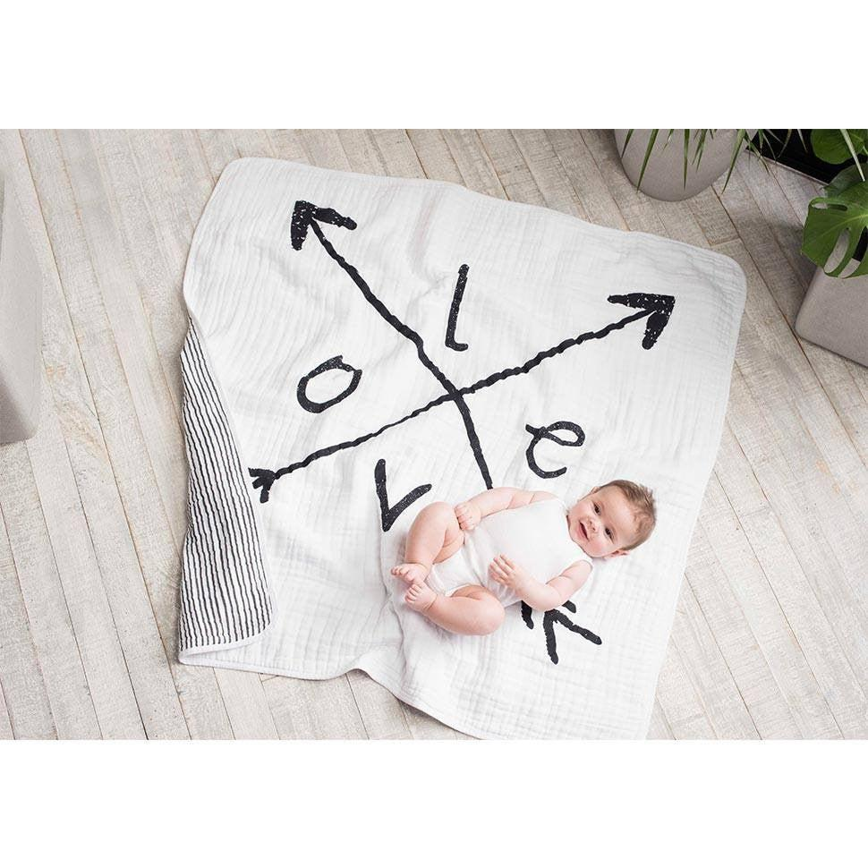 aden + anais Muslin Dream Blanket - Lovestruck-Blankets-Lovestruck- Natural Baby Shower