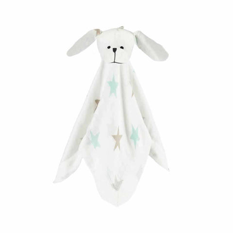 aden + anais Bamboo Musy Mate Lovey - Puppy - Milky Way - Comforters - Natural Baby Shower