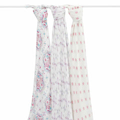 aden + anais Bamboo Swaddles in Flower Child - 3 Pack