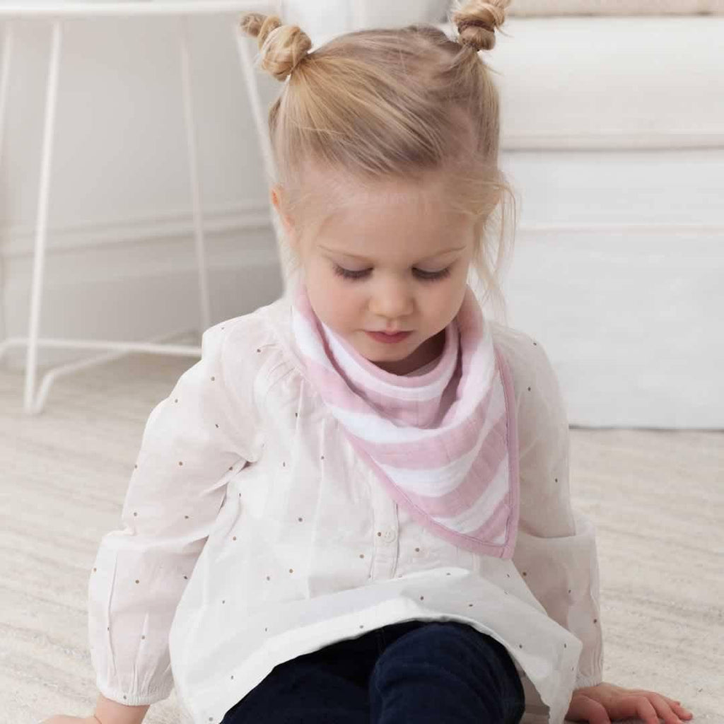 aden + anais Bandana Bib - Heart Breaker-Bibs-Heart Breaker- Natural Baby Shower