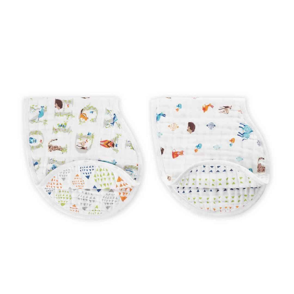 aden + anais Burpy Bibs in Paper Tales - 2 Pack