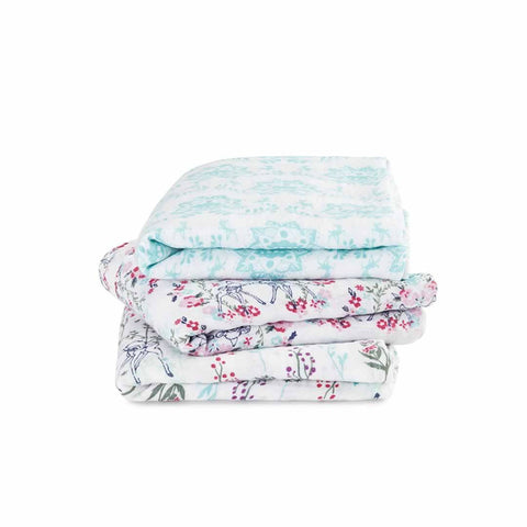 aden + anais Classic Musy - Bambi - 3 Pack - Muslin Squares - Natural Baby Shower