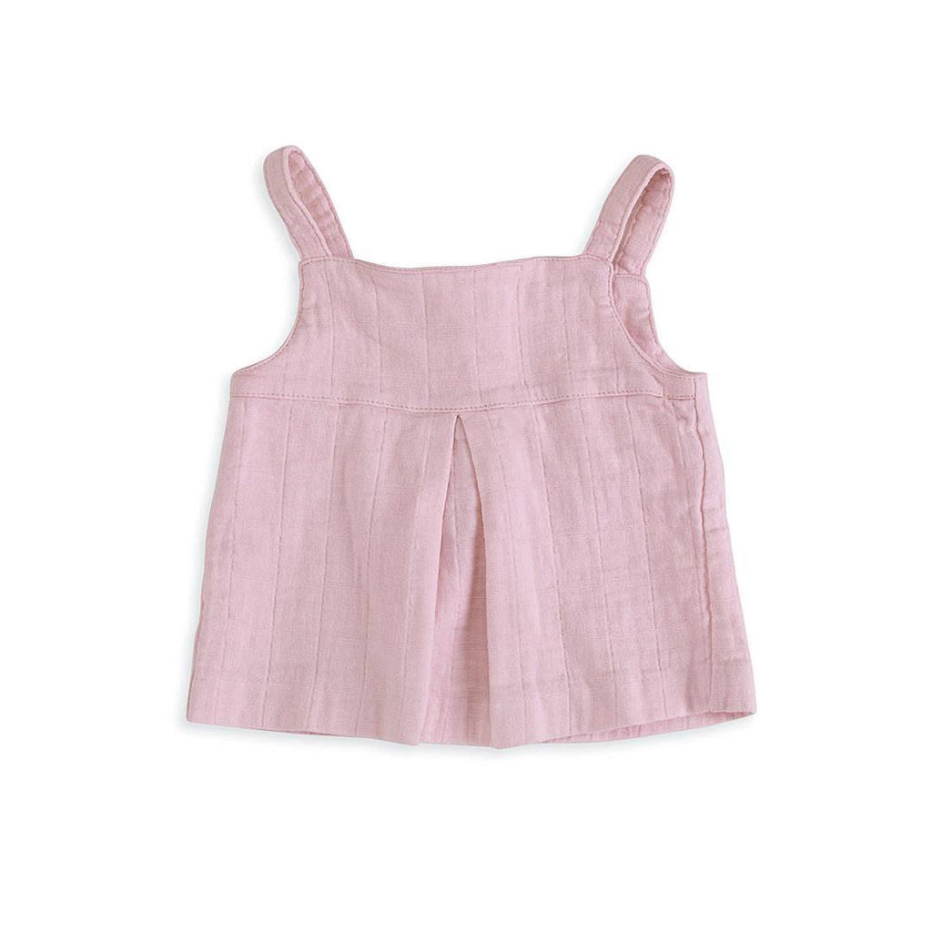 aden + anais Layette Smock Top Lovely Solid Pink
