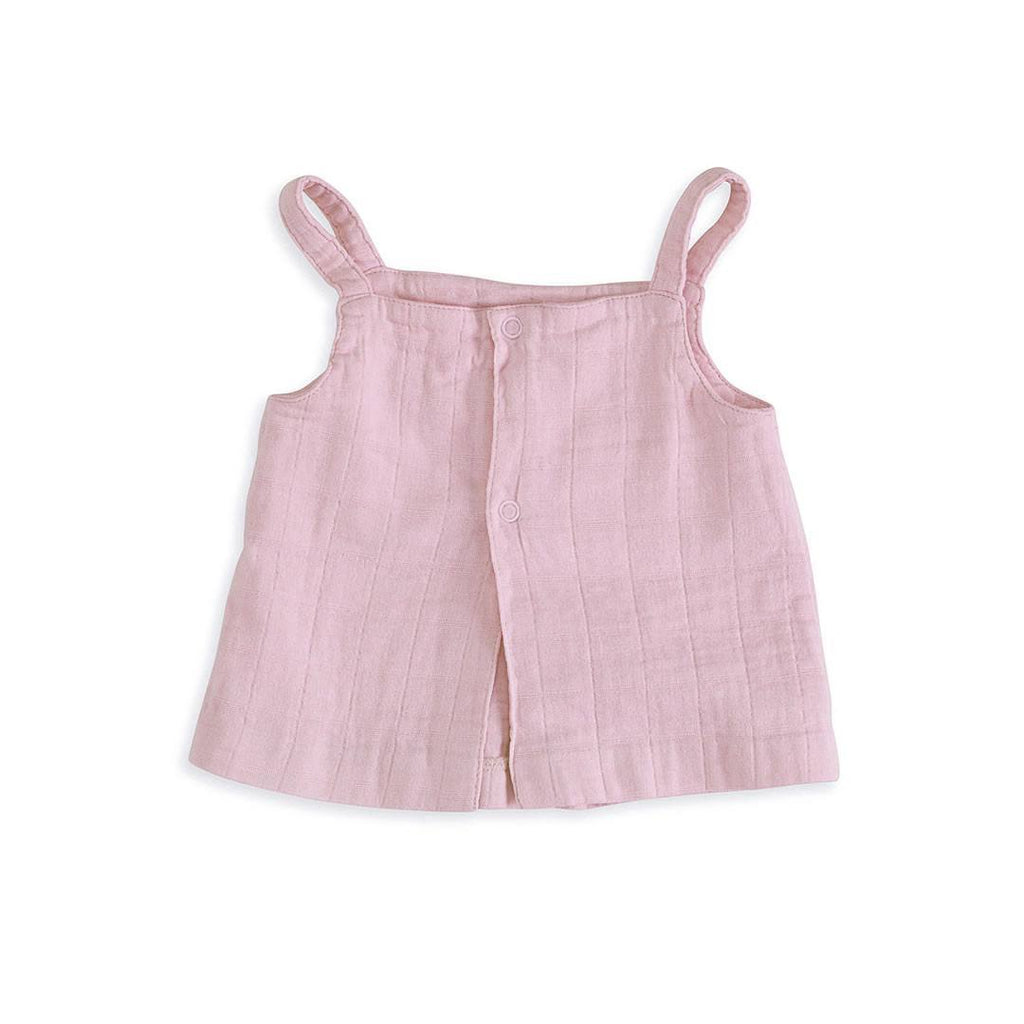 aden + anais Layette Smock Top in Lovely Solid Pink