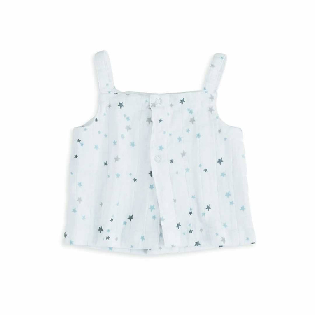 aden + anais Layette Smock Top Night Sky Starburst