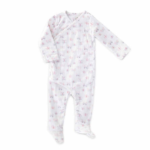aden + anais Long Sleeve Kimono One-Piece - Mini Flutter - Babygrows & Sleepsuits - Natural Baby Shower