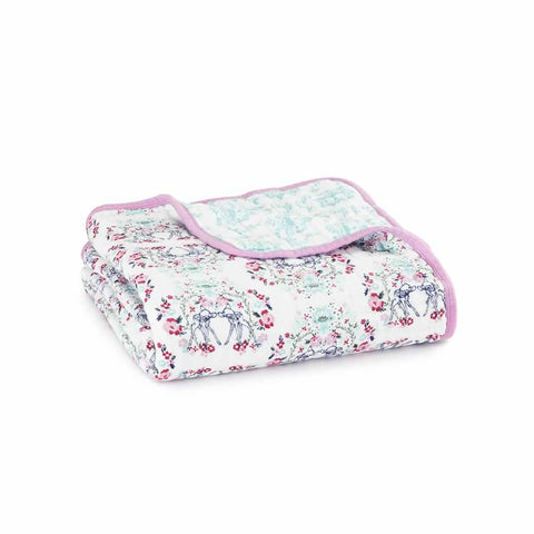 aden + anais Muslin Dream Blanket - Bambi-Blankets-Bambi Pink- Natural Baby Shower