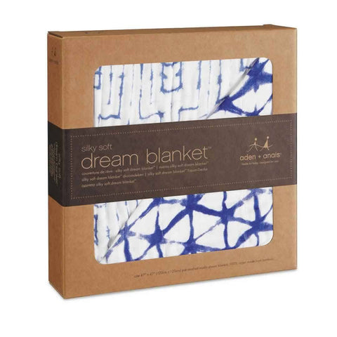 aden + anais Bamboo Dream Blanket - Indigo-Blankets-Indigo- Natural Baby Shower