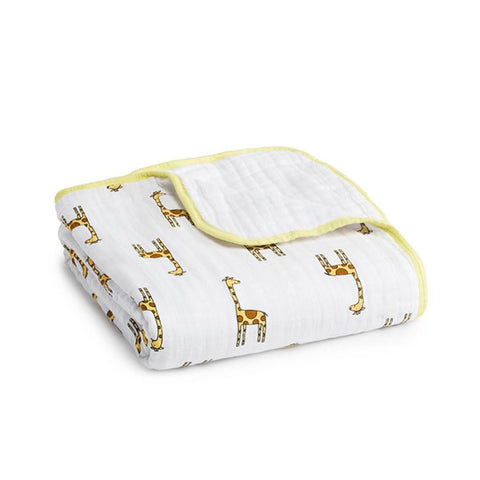 aden + anais Muslin Dream Blanket - Jungle Jam Giraffe-Blankets-Jungle Jam Giraffe- Natural Baby Shower