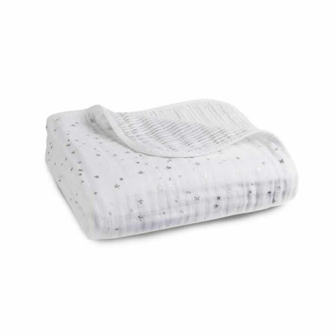 aden + anais Muslin Dream Blanket in Metallic Silver