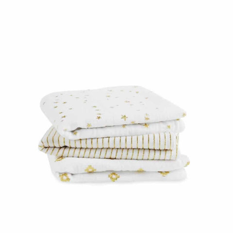 aden + anais Muslin Musy - Metallic Gold in 3 Pack