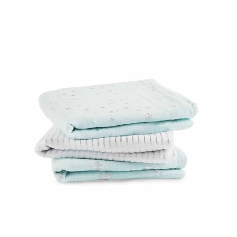 aden + anais Muslin Musy in Metallic Skylight - 3 Pack