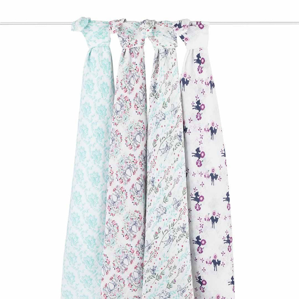 aden + anais Muslin Swaddles - Bambi - 4 Pack-Swaddling Wraps-Bambi- Natural Baby Shower