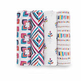 aden + anais Muslin Swaddles - Flip-Side - 4 Pack - Swaddling Wraps - Natural Baby Shower