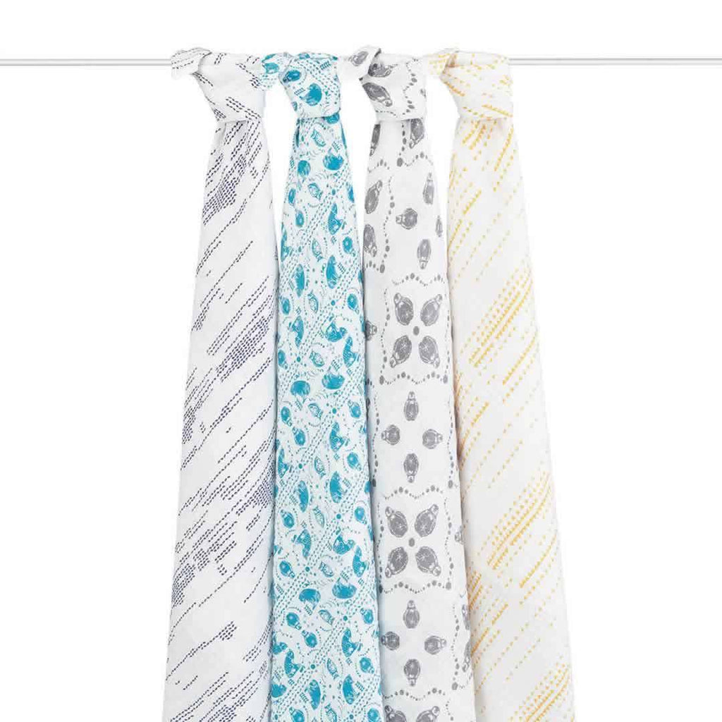 aden + anais Muslin Swaddles in Kindred - 4 Pack