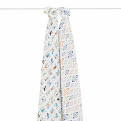 aden + anais Muslin Swaddles in Paper Tales - 2 Pack