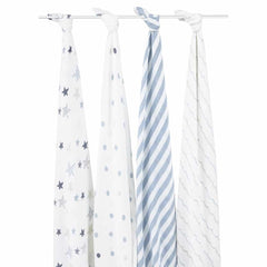 aden + anais Muslin Swaddles Rock Star 4 Pack