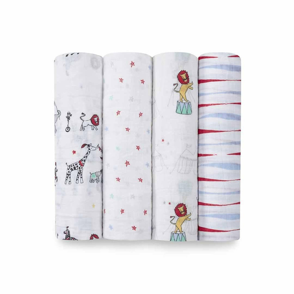 aden + anais Muslin Swaddles Vintage Circus - 4 Pack