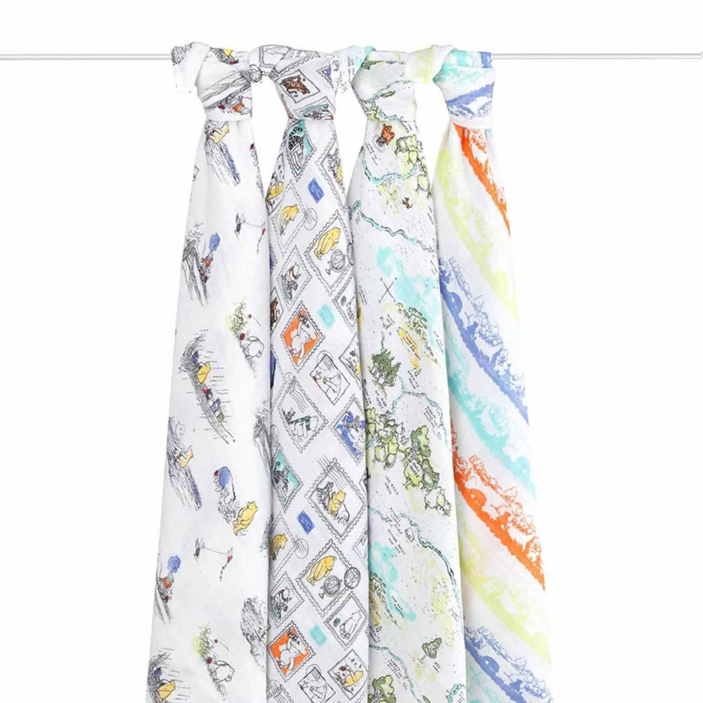 aden + anais Muslin Swaddles Winnie The Pooh 4 Pack