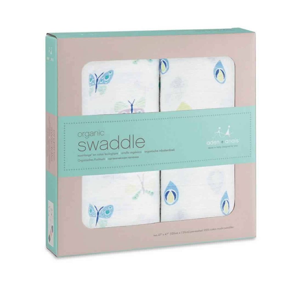 aden + anais Organic Swaddles Mariposa - 2 Pack