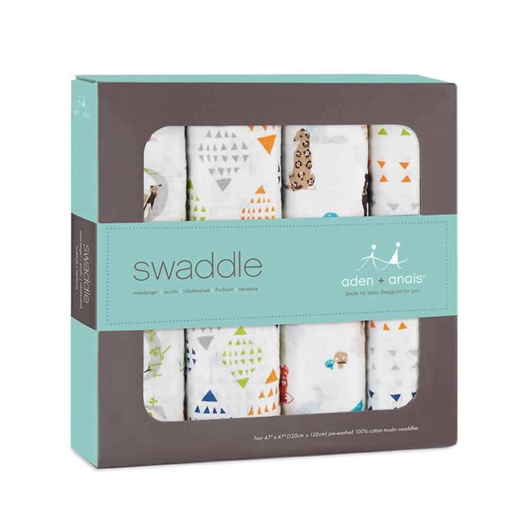 aden + anais Muslin Swaddles Paper Tales - 4 Pack