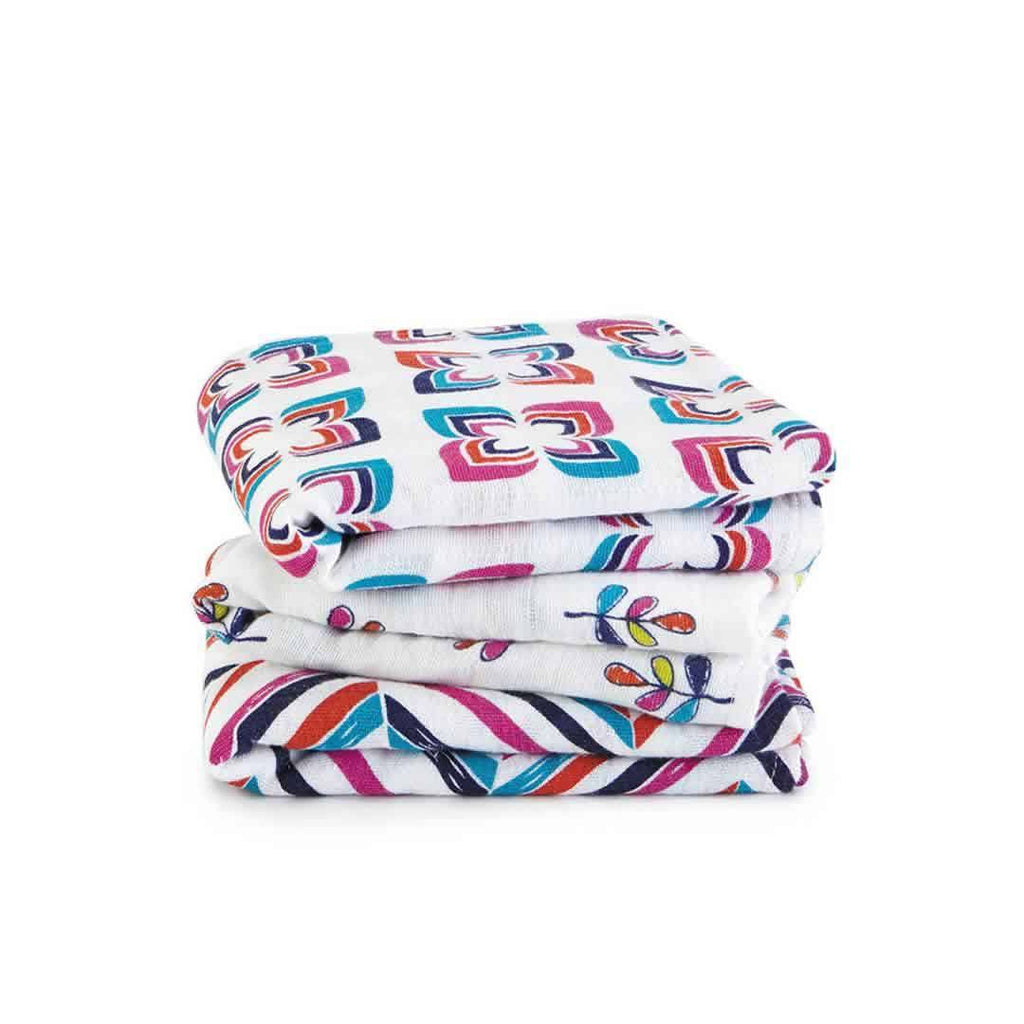 aden + anais Musy - Flip-Side - 3 Pack - Muslin Squares - Natural Baby Shower