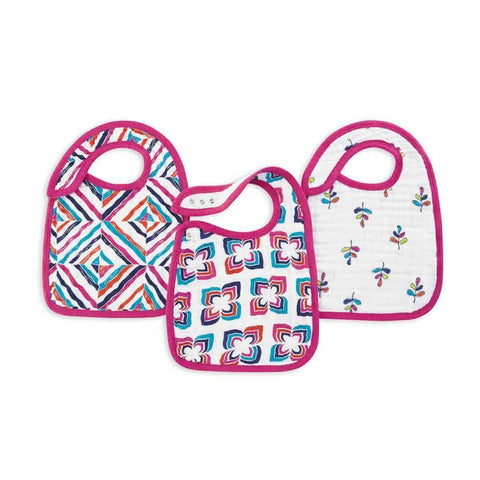 aden + anais Snap Bibs - Flip-Side - 3 Pack-Bibs-Flip Side- Natural Baby Shower