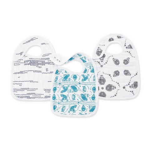 aden + anais Snap Bibs in Kindred - 3 Pack