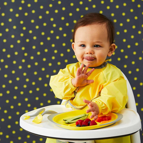 b.box Smock Bib - Lemon Sherbet-Bibs-Default- Natural Baby Shower