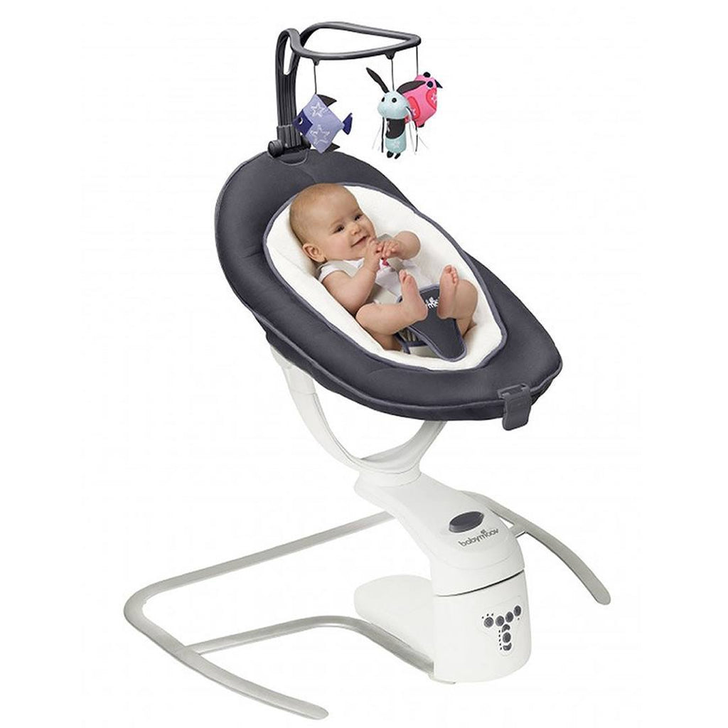 babymoov Swoon Motion - Zinc - Baby Bouncer - Natural Baby Shower