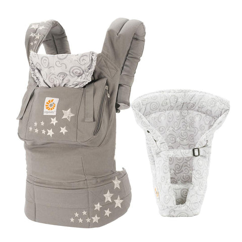 Baby Carriers - Ergobaby Bundle Of Joy - Carrier + Insert - Galaxy Grey