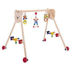 Baby Gyms - Heimess Wooden Baby Gym - Bear With Hearts