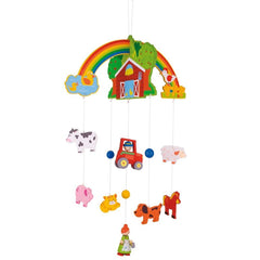 Baby Mobiles - BigJigs Wooden Mobile - Farm