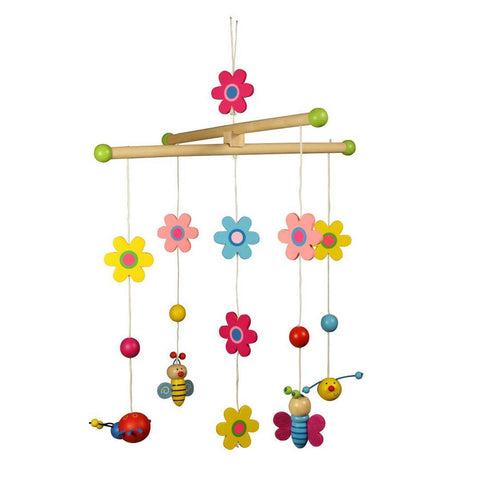 Baby Mobiles - BigJigs Wooden Mobile - Garden Nature
