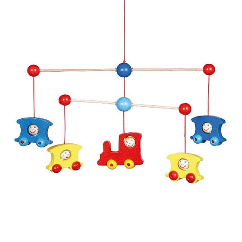 Heimess Wooden Mobile - Train - Baby Mobiles - Natural Baby Shower