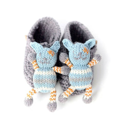 Baby Shoes & Booties - Finn + Emma Rattle Booties - Leo The Dog