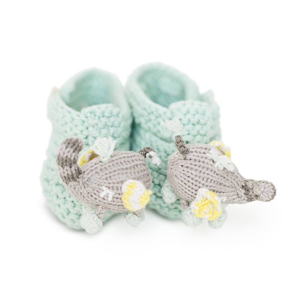 Baby Shoes & Booties - Finn + Emma Rattle Booties - Piper The Elephant
