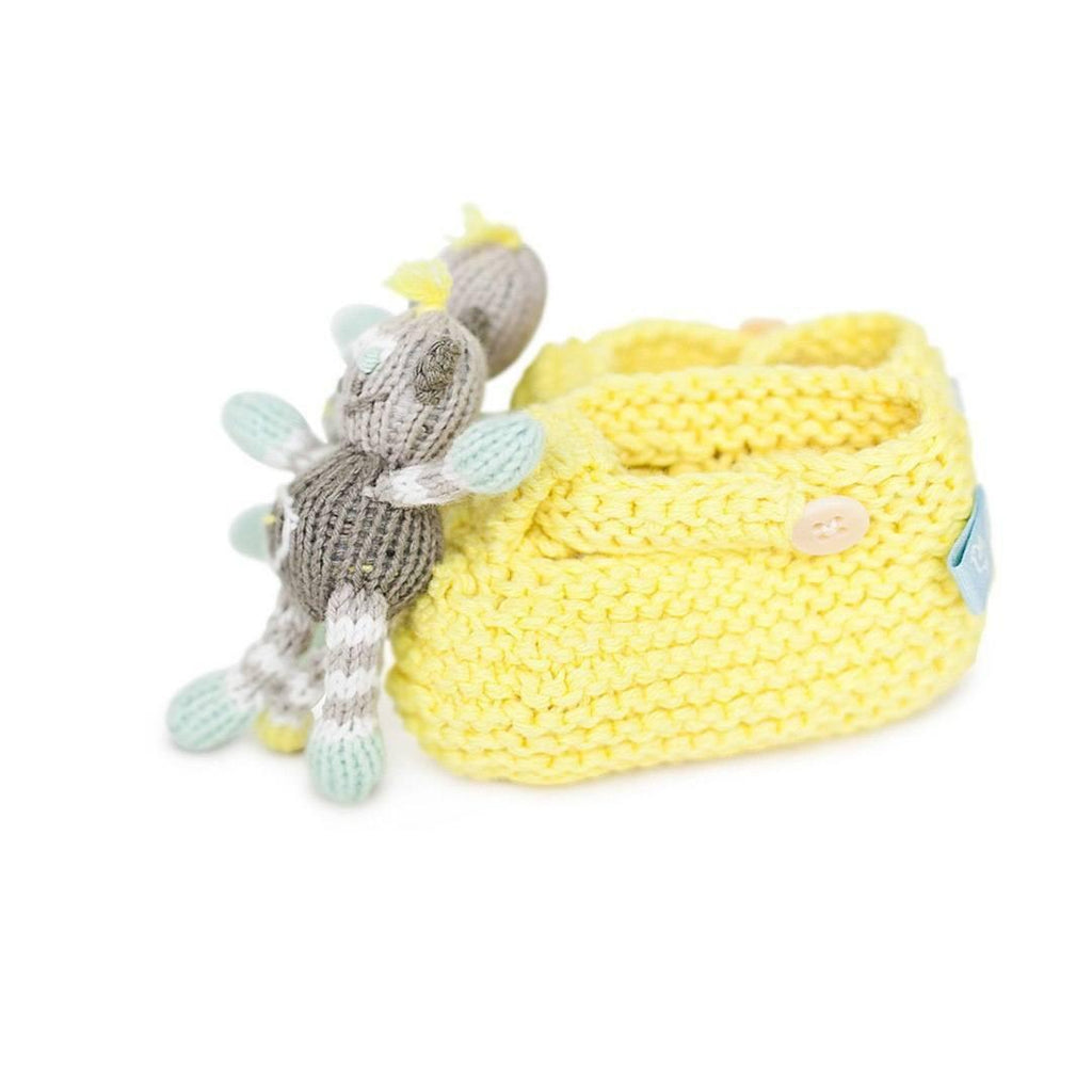 Baby Shoes & Booties - Finn + Emma Rattle Booties - Theo The Monkey